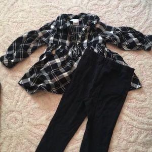 Ralph Lauren Plaid Top and leggings set